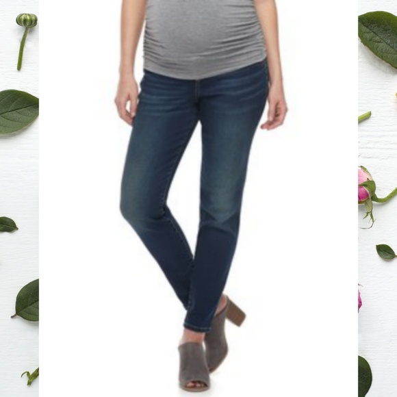 a:glow Denim - A:Glow Over The Belly Maternity Jeggings